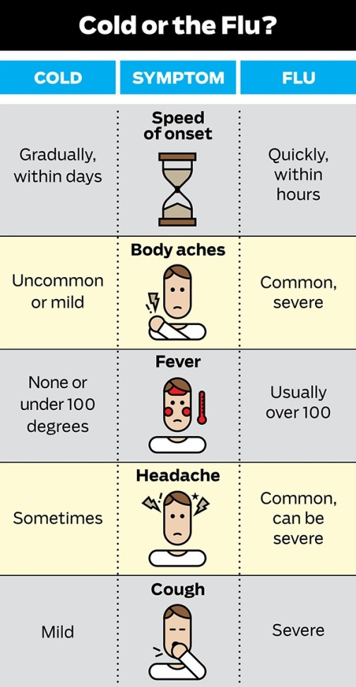 Flu vs. Common Cold